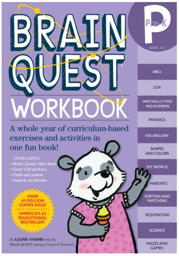 Brain Quest Pre-K Workbook