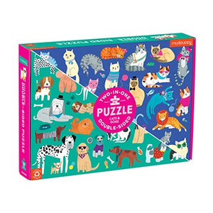 Cats & Dogs Double-Sided 100 Piece Puzzle