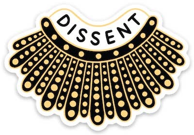Dissent Collar Sticker