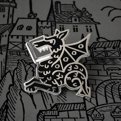 Book Wyrm Pin