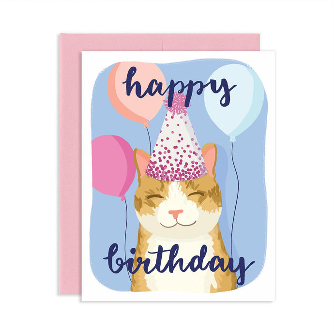 Happy Birthday Cat Card