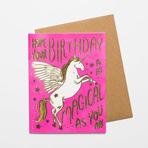 Hope Your Birthday Is As Magical As You Card