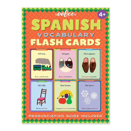 Spanish Vocabulary Flash Cards