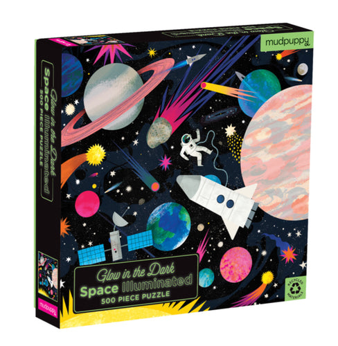 Glow In a The Dark Space Illuminated 500 Piece Puzzle