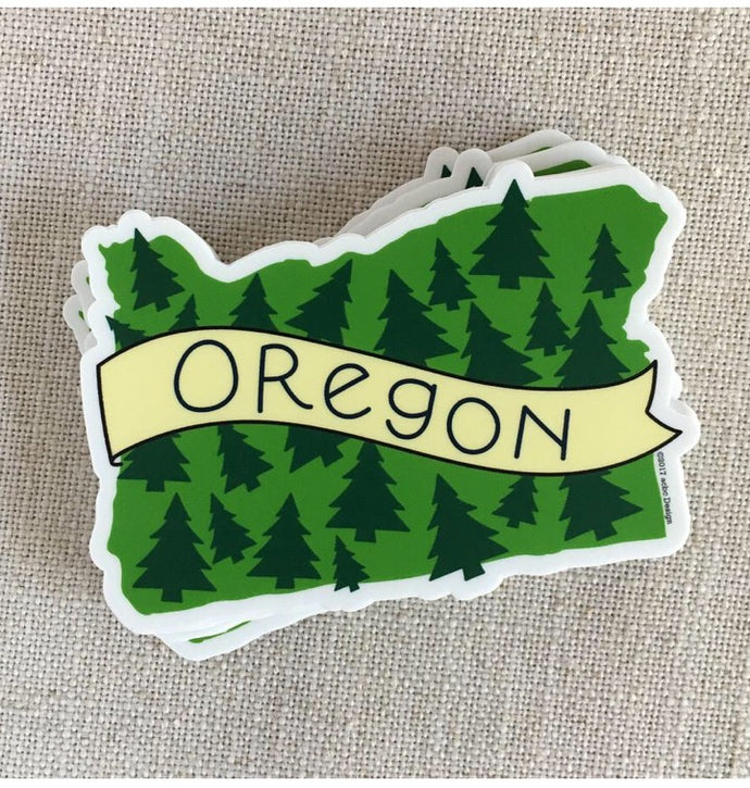 Oregon Trees Vinyl Sticker