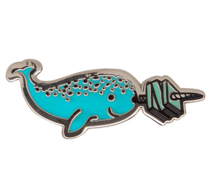 Read like a Narwhal pin
