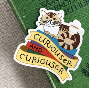 Curiouser and Curiouser Alice in Wonderland Sticker