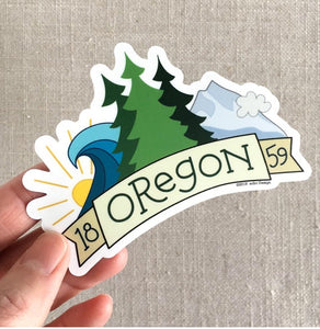 Oregon 1859 Vinyl Sticker
