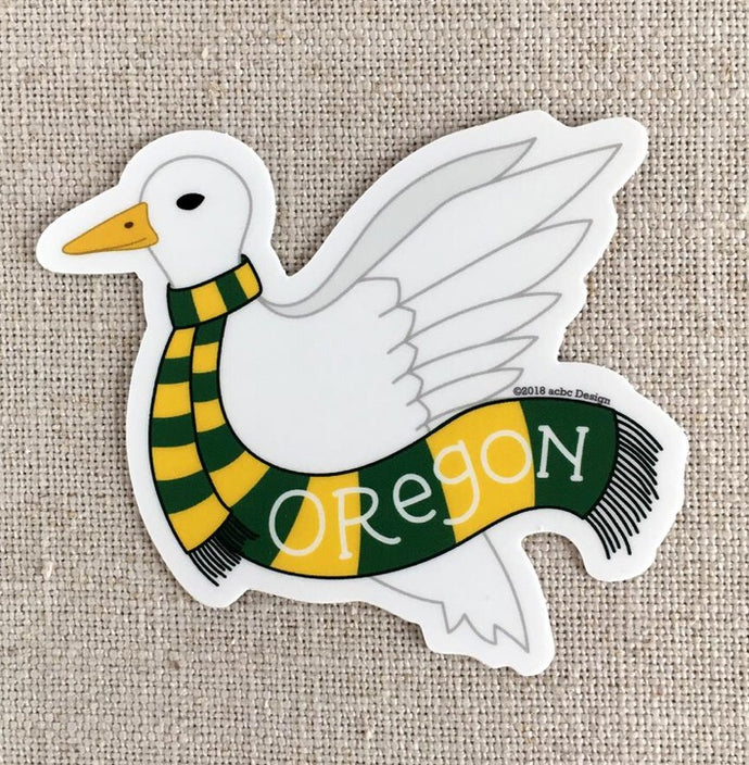 Oregon Duck Vinyl Sticker