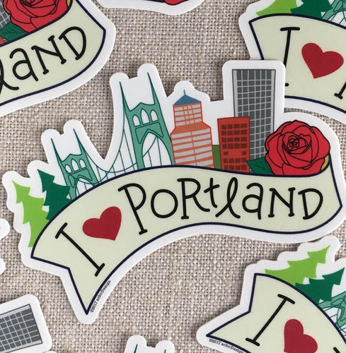 I Love Portland Vinyl Sticker