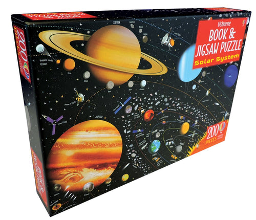 Book and Jigsaw Puzzle: Solar System 200 Pieces