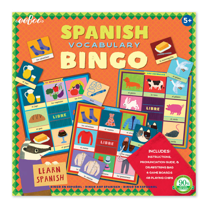 Spanish Vocabulary Bingo