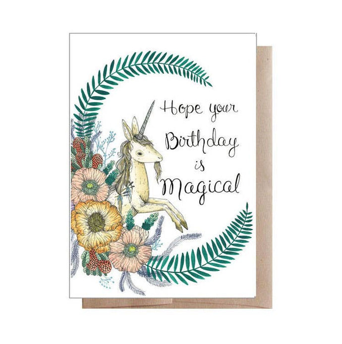Hope Your Birthday Is Magical Unicorn Card