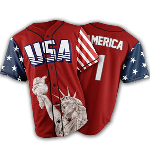 Limited Edition Red America #1 Jersey - Keep America American