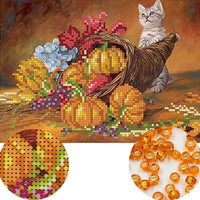 Broderie Perles Chatons fruits et fleurs