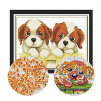 Broderie Perles Chiots