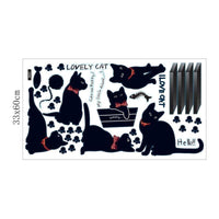 Jaime les chats - Lovely cat - Stickers muraux