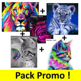 Pack 5 kits de Broderie Diamant - Promotion