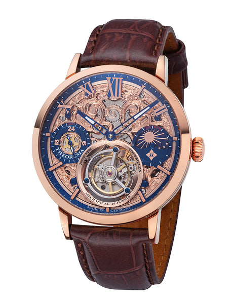Zürich Tourbillon Theorema - GM-901-4 |Rose| Handmade German Watch