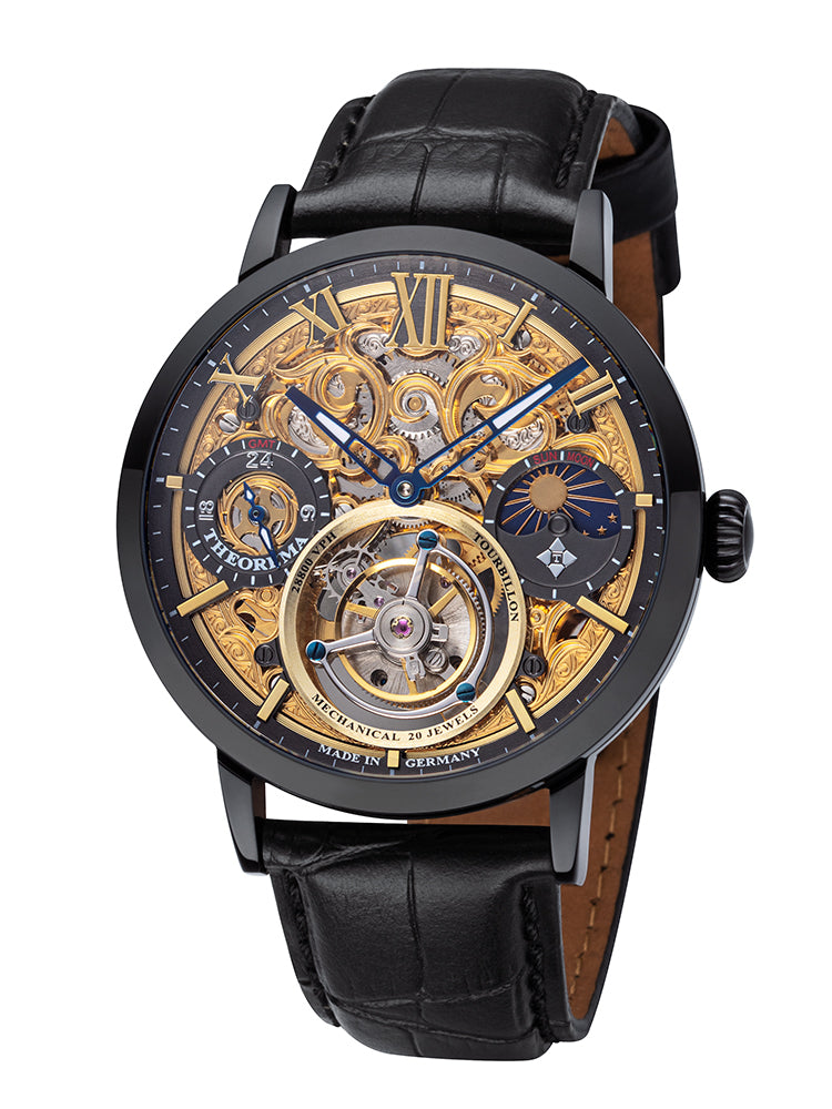 Zürich Tourbillon Theorema - GM-901-5 |Black| Handmade German Watch