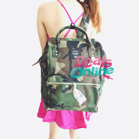Camouflage  Anello Polyester Canvas Backpack Rucksack Regular Size