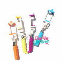 Rainbow Mini Retractable 3.5mm Plug Wired Selfie Monopod