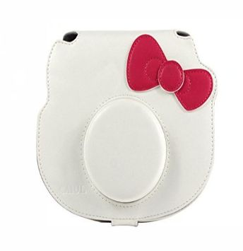 White Hello Kitty Instax Leather Bag for Instax 8