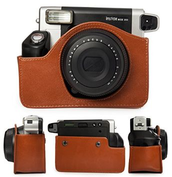 Brown Caiul Leather Case/Bag Instax WIDE 300