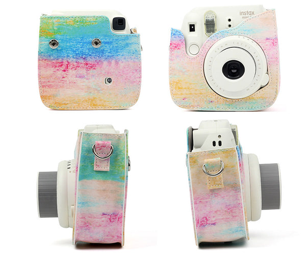 Watercolor Instax Mini 8/9 Leather Case/Bag