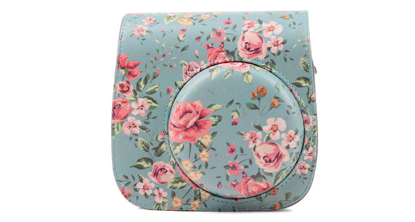 Floral Green Instax Mini 8/9 Leather Case/Bag