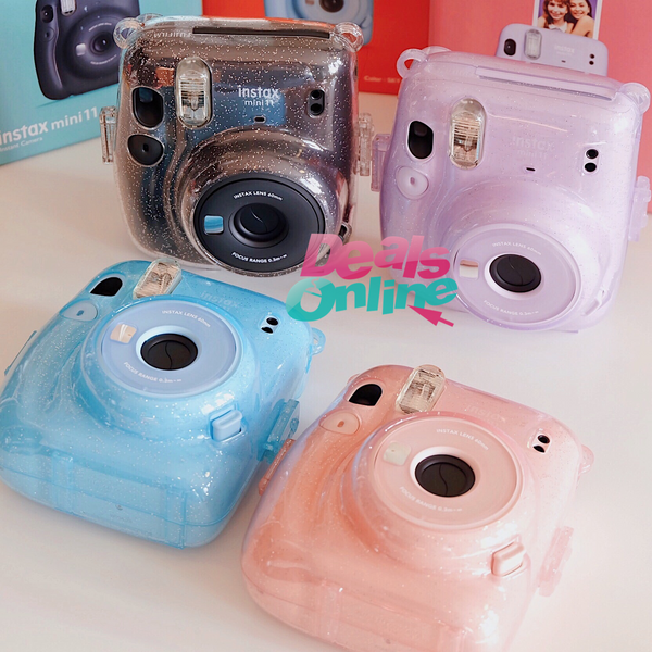 Glitter Transparent Crystal Case instax mini 11