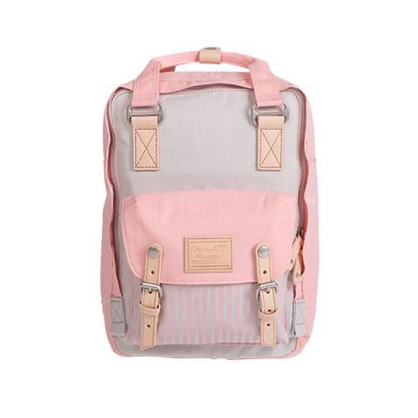 STONE X LIGHT CORAL Stripe Doughnut Macaroon Backpack