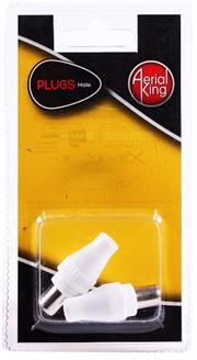 Aerial King Plug Male X 2, Retail Box, No Warranty