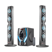 Audionic Reborn RB105 2.1 Channel Tall Boy Bluetooth HiFi speakers with FM radio, remote control, SD/ MMC/ USB, Retail Box , 1 year Limited Warranty