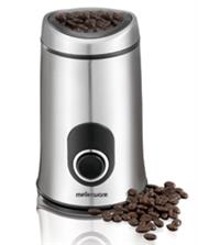 Mellerware Coffee/Spice Mill & Grinder - 29105A - Classic stainless steel design, Safety switch button, Stainless steel blades, 50g coffee ground/Spice capacity, Retail Box, 1 year warranty