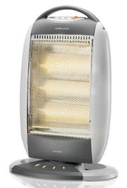 Mellerware 3 Bar Halogen Heater (35400), 3 Heat settings 1200W, Automatic Tip Over Cut Out Protection, Left and right Oscillating Function, Retail Box, 1 year warranty