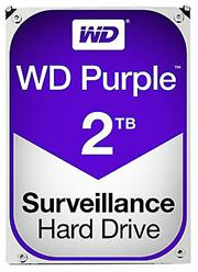 "Western Digital Purple (WD20PURZ) - 2.0TB 3.5"" SATA3 6.0Gbps Surveillance HDD, Intellipower™ Speed Management, 64MB Cache, 150MB/s Host to/from (Sustained), AllFrame, HD Video Optimised, , 2 year warranty"