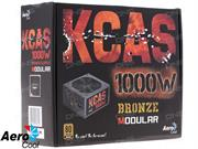 Aerocool KcasM-1000w 80+ Bronze Certified Modular PSU, Retail Box , 12 Month Limited warranty