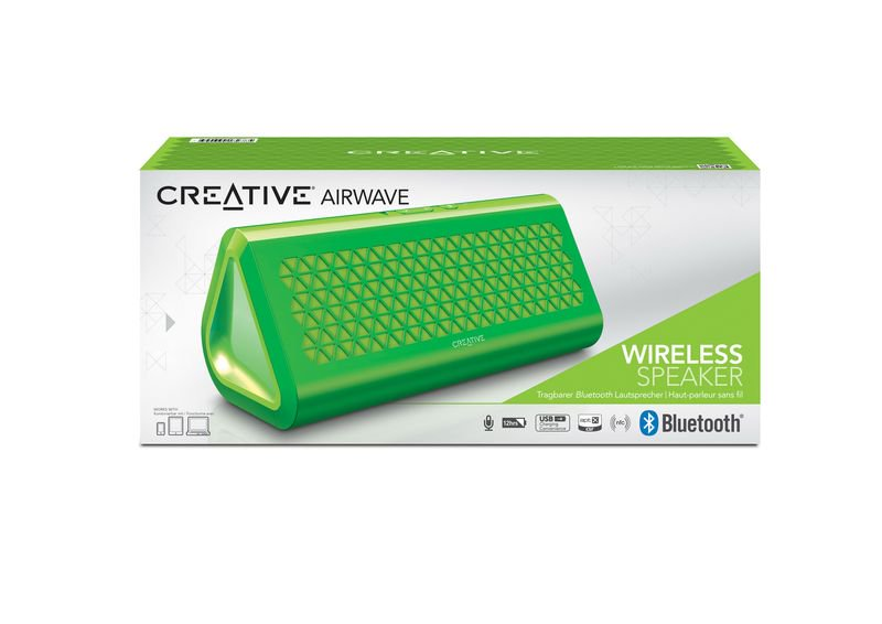 CREATIVE BLUETOOTH SPEAKER - AIRWAVE -  GREEN