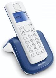 Bell Cordless Telephone AIR-01 - Cordless DECT phone with Speaker phone, Blue backlight display, Up to 4 handsets per base, Alarm function, Increased handset volume control, Switchboard compatible-White , Retail Box, 1 year warranty