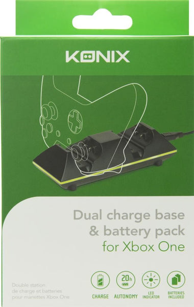 KONIX - DUAL CHARGE BASE + 2 BATTERIES (XBOXONE)
