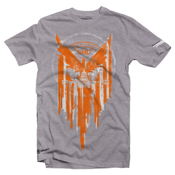 TOM CLANCYS: THE DIVISION 2- PHOENIX-MENS TEE- GREY (S)