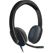 Logitech H540 USB Headset with Noise-Cancelling Mic, Retail Box , 1 year Limit warranty