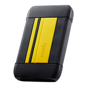 Apacer AC633 1TB USB 3.1 External Hard Drive - Yellow, Retail Box, Limited 3 Year Warranty