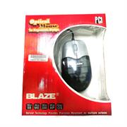 Geeko Black/Silver PS2 Optical Mouse, Retail Box , 1 year Limited warranty
