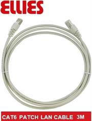 Ellies CAT6 SFTP 3m Network Patch Cable - Grey, Retail Box, No Warranty