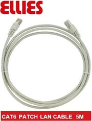 Ellies CAT6 SFTP 5m Network Patch Cable - Grey, Retail Box, No Warranty