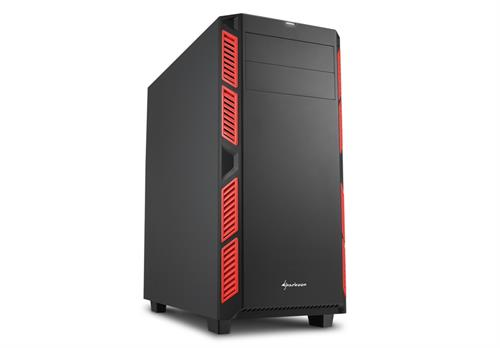 Sharkoon AI7000 ATX Tower PC Gaming Case Red