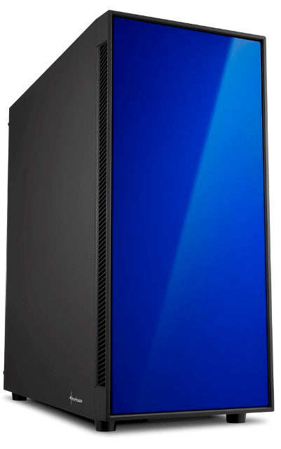 Sharkoon AM5 Window ATX Tower PC Gaming Case Blue