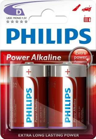 Philips PowerLife Battery LR20P2B 2 X Type D